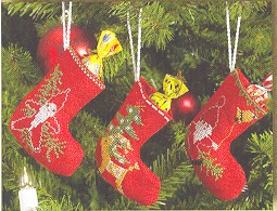 Permin Kits014214 ~ Three Christmas Stockings ~ 14 count Aida