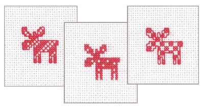 Permin Kits014261 ~ Christmas Giftcards ~ 20 count Aida
