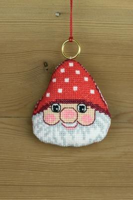 Permin Kits016253 ~ Elf Head Ornament ~ 14 count Aida