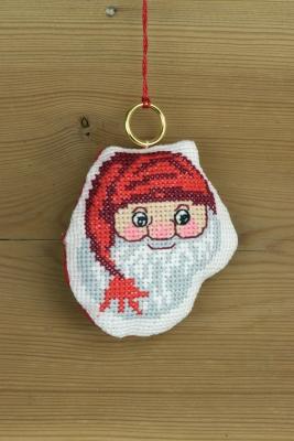 Permin Kits016257 ~ Santa Claus Ornament ~ 14 count Aida