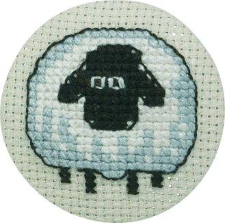 Permin Kits022195 ~ Sheep Front Badge ~ 18 count Aida