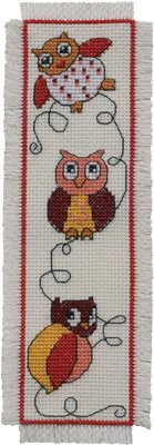 Permin Kits052102 ~ Owl Bookmark ~ 14 count Aida