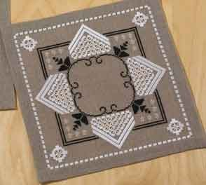 Permin Kits100912 ~ Hardanger Table Topper ~ 26 count Linen