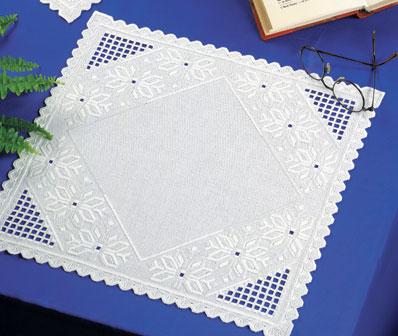 Permin Kits103637 ~ Hardanger Table Topper ~ 22 count Hardanger
