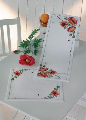 Permin Kits103872 ~ Poppy ~ 14 count Aida