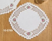 Permin Kits 105769 Hardanger With Flowers Table Topper ~ 22 Count Hardanger