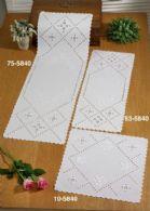 Permin Kits105840 ~ Hardanger Roses ~ Table Topper (lower right) ~ 21 count White Hardanger