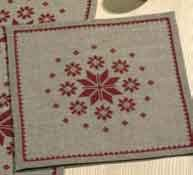 Permin Kits107296 ~ Star Table Topper ~ 18 count Linen