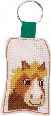 Permin Kits116433 ~ Smiling Horse Keyring ~ 14 Count Aida