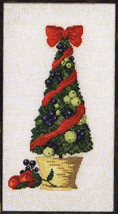 Permin Kits120207 ~ Potted Christmas Tree ~ 28cy Linen