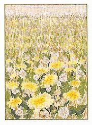 Permin Kits120351 ~ Field Of Dandelions ~ 28 count Linen