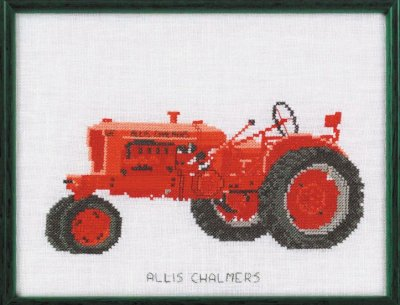 Permin Kits120455 ~ Tractor ~ Allis Chalmers ~ 30 count Linen