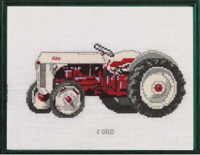 Permin Kits120456 ~ Tractor ~ Ford ~ 30 count Linen