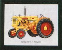 Permin Kits120458 ~ Tractor ~ Minneapolis Moline ~ 30 count Linen