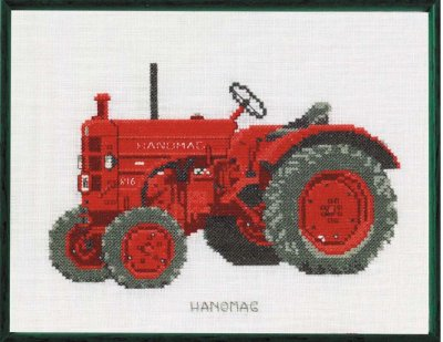 Permin Kits120460 ~ Tractor ~ Hanomag ~ 30 count Linen