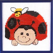 Permin Kits121163 ~ First Kit ~ Lady Bug ~ 6 count Aida