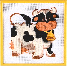 Permin Kits121164 ~ First Kit ~ Cow ~ 6 count Aida