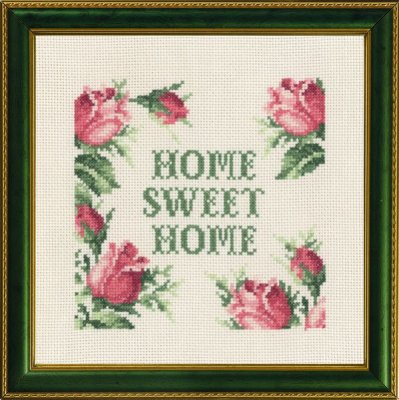 Permin Kits121653 ~ Home Sweet Home ~ 14 count Aida