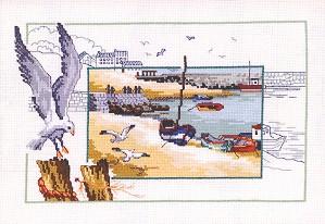 Permin Kits122144 ~ Gulls On The Seashore ~ 16 count Aida