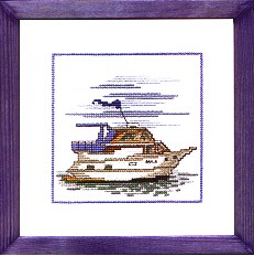 Permin Kits122172 ~ Cruiser Boat ~ 16 count Aida