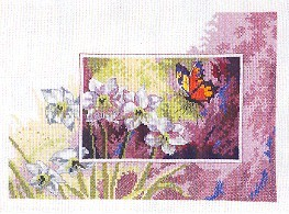 Permin Kits123195 ~ Lily With Butterfly ~ 16 count Aida