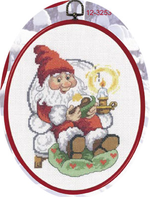 Permin Kits123253 ~ Relaxing Elf ~ 14 count Aida