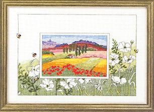 Permin Kits123353 ~ Toscanna Sunflower ~ 16 count Aida