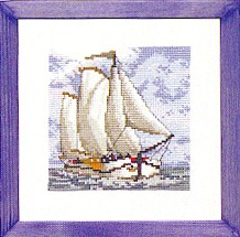 Permin Kits123415 ~ Sail Boat ~ 16 count Aida