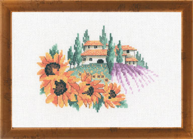 Permin Kits125368 ~ Toscana Sunflowers ~ 14 count Aida