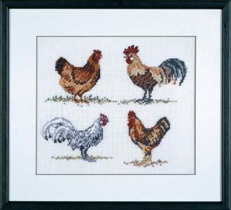 Permin Kits126422 ~ Hens ~ 26 count Linen