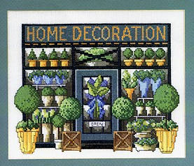 Permin Kits129463 ~ Home Deco Shop Front ~ 26 count Linen
