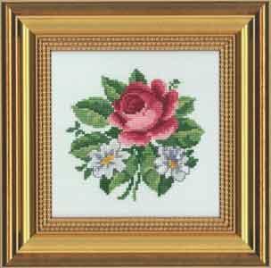 Permin Kits129670 ~ Flowers ~ 14 count Aida