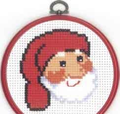 Permin Kits131292 ~ Santa Face ~ 8 count Aida