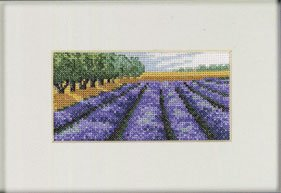 Permin Kits131330 ~ Lavender Fields ~ 18 count Aida
