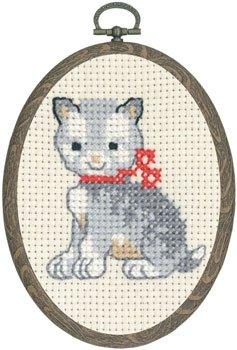 Permin Kits131386 ~ Kitten ~ 8 count Aida