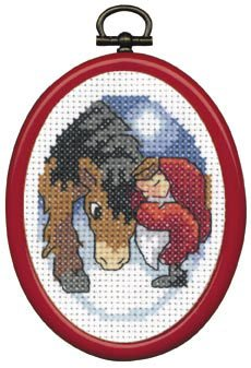 Permin Kits132282 ~ Pixie With Horse ~ 8 count Aida