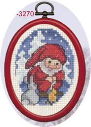 Permin Kits133270 ~ Elf With Rabbit ~ 14 count Aida