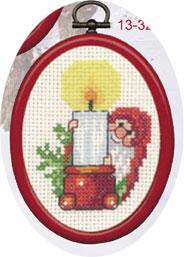 Permin Kits133277 ~ Elf With Light ~ 14 count Aida