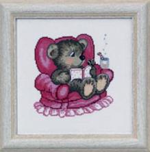 Permin Kits133358 ~ Teddy In Arm Chair ~ 16 count Aida