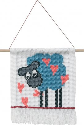 Permin Kits0134341 ~ MFK Sheep ~ 8 count Aida
