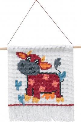Permin Kits0134345 ~ MFK Cow ~ 8 count Aida