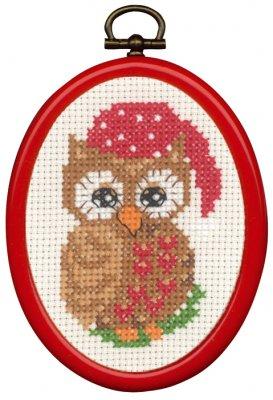 Permin Kits135272 ~ Owl ~ 14 count Aida