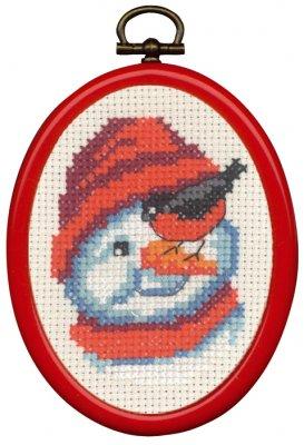 Permin Kits135276 ~ Snowman ~ 14 count Aida