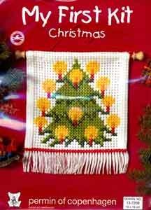 Permin Kits137256 ~ Christmas Tree - My First Kit ~ 6 count Aida