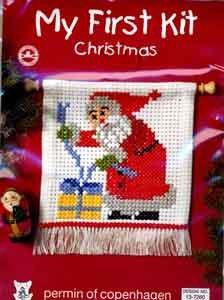 Permin Kits137260 ~ Santa - My First Kit ~ 6 count Aida