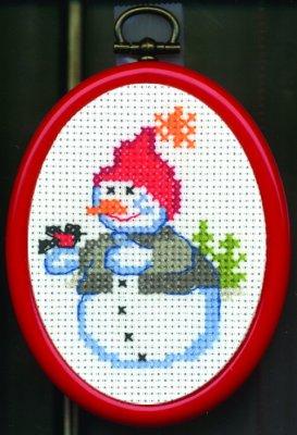 Permin Kits138226 ~ Snowman ~ 14 count Aida
