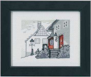 Permin Kits140140 ~ Red House ~ 18 count Aida