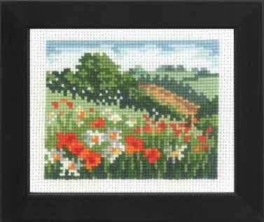 Permin Kits141190 ~ Poppy Meadow ~ 16 count Aida