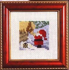 Permin Kits141222 ~ Santa Feeding Reindeer ~ 14 count Aida