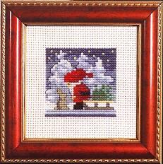 Permin Kits141224 ~ Santa With Rabbit ~ 14 count Aida